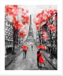 The city of love Art Print 133948602