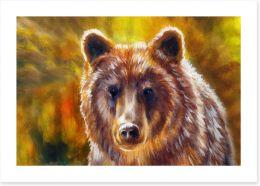 Mighty brown bear Art Print 135364634