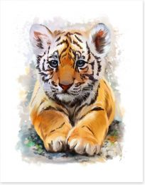 Little tiger Art Print 135461997