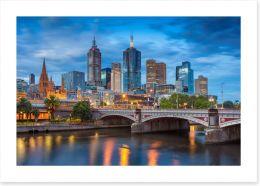 Melbourne twilight blues