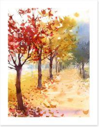 Autumn avenue Art Print 138498934