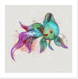 Feeling fishy Art Print 144460592