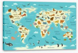 Animals of the world Stretched Canvas 145456641