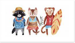 Animal Friends Art Print 158872331