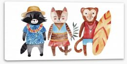 Animal Friends Stretched Canvas 158872331