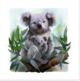 In the old gum tree Art Print 159450846