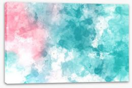 Turquoise blush Stretched Canvas 159685175