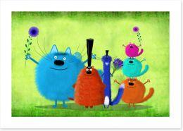 Animal Friends Art Print 164715483