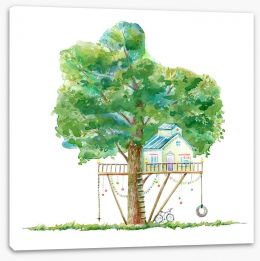 Fun Gardens Stretched Canvas 165343080