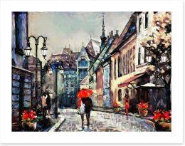 Umbrellas in Budapest Art Print 167016716