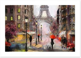 Dusk falls in Paris Art Print 167017446