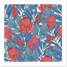 Vintage protea Art Print 169800042