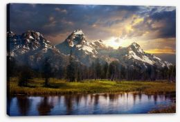 Mountains Stretched Canvas 171366185