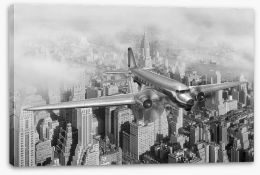 Flying over Manhattan Stretched Canvas 17391810