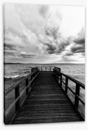 Black and White Stretched Canvas 176807468