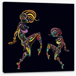 African Art Stretched Canvas 179362363