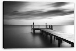 Black and White Stretched Canvas 179985684