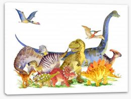 Dinosaurs Stretched Canvas 181334756