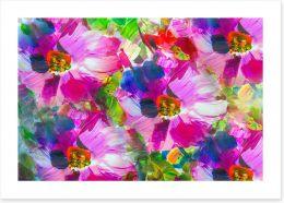 Pink flower bed Art Print 181352196