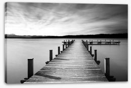 Black and White Stretched Canvas 182425292