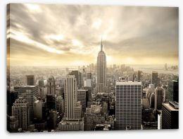 Manhattan sunrise Stretched Canvas 18341458