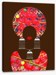African Art Stretched Canvas 184959938