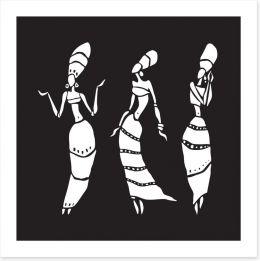 African Art Art Print 190388880