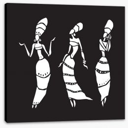 African Art Stretched Canvas 190388880