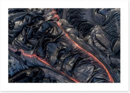 Lava flow Art Print 191566598