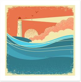 Beach House Art Print 192199818