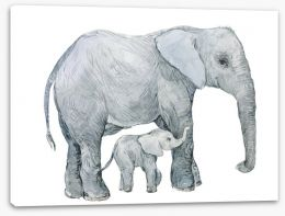 Elephants Stretched Canvas 192409454