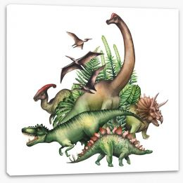 Dinosaurs Stretched Canvas 192593336