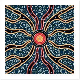 Aboriginal Art Art Print 195486498