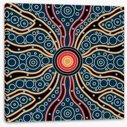 Aboriginal Art Stretched Canvas 195486498