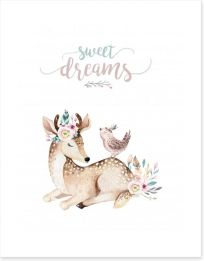 Sweet dreams deer Art Print 196865683