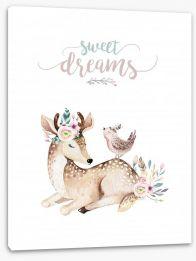 Sweet dreams deer Stretched Canvas 196865683