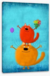 Animal Friends Stretched Canvas 198182076