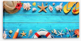 Beach House Stretched Canvas 207564902