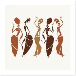 African Art Art Print 209411330