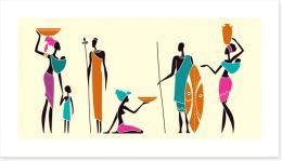 African Art Art Print 209706423