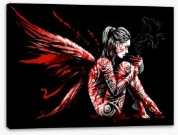 Fallen angel Stretched Canvas 212413603