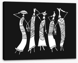 African Art Stretched Canvas 216592536