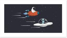 Rockets and Robots Art Print 217422140