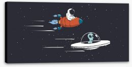Rockets and Robots Stretched Canvas 217422140