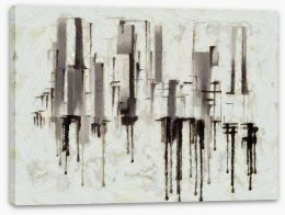 Black and White Stretched Canvas 219166731