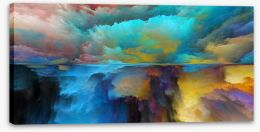Abstract Stretched Canvas 219610263