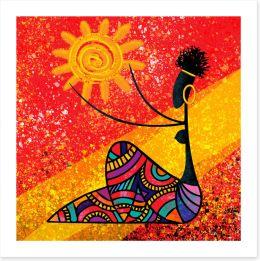 African Art Art Print 224996066