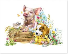 Animal Friends Art Print 229903840