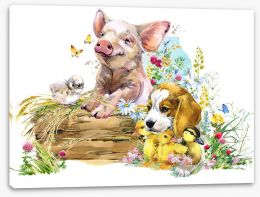 Animal Friends Stretched Canvas 229903840