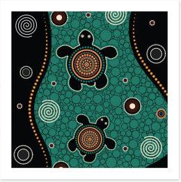 Dot Painting Art Print 230034602